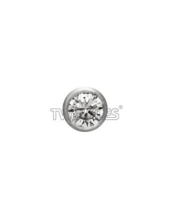 Rond Diamant 0,02 ct or blanc